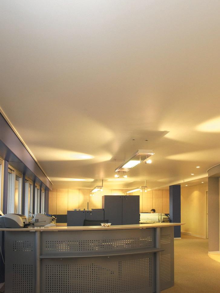 Plafond tendu bureaux